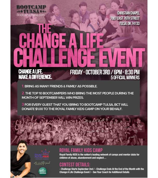 CHANGE A LIFE CHALLENGE – 2014
