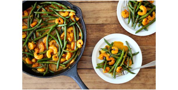 Coconut Curry Shrimp & Green Beans