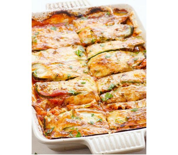 Chicken Zucchini Enchilada Casserole