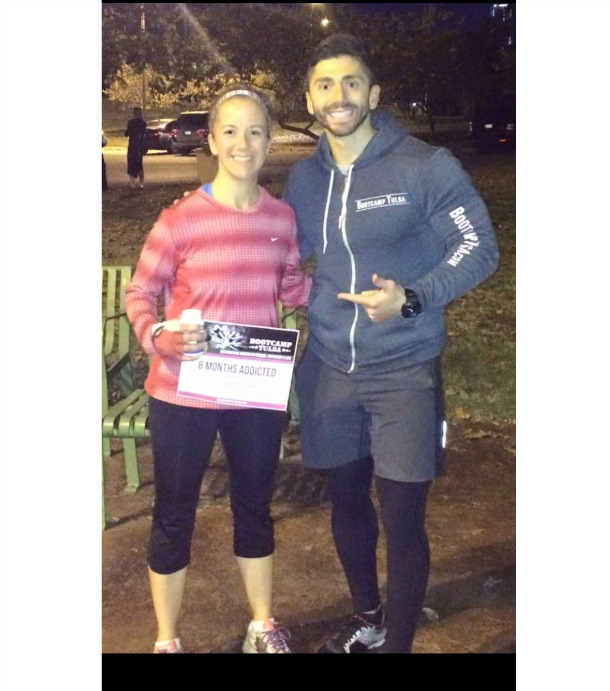 Diana Loehrke found Bootcamp Tulsa on her morning jog in Jenks!