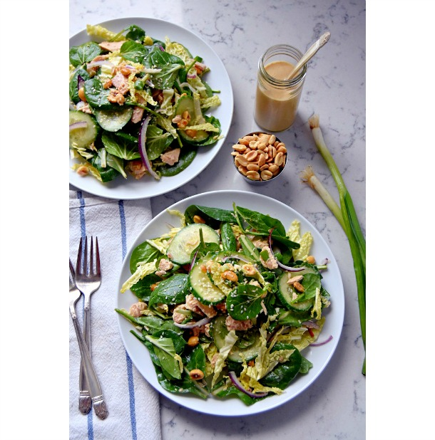 Low-Carb Tuna Salad with Dressing