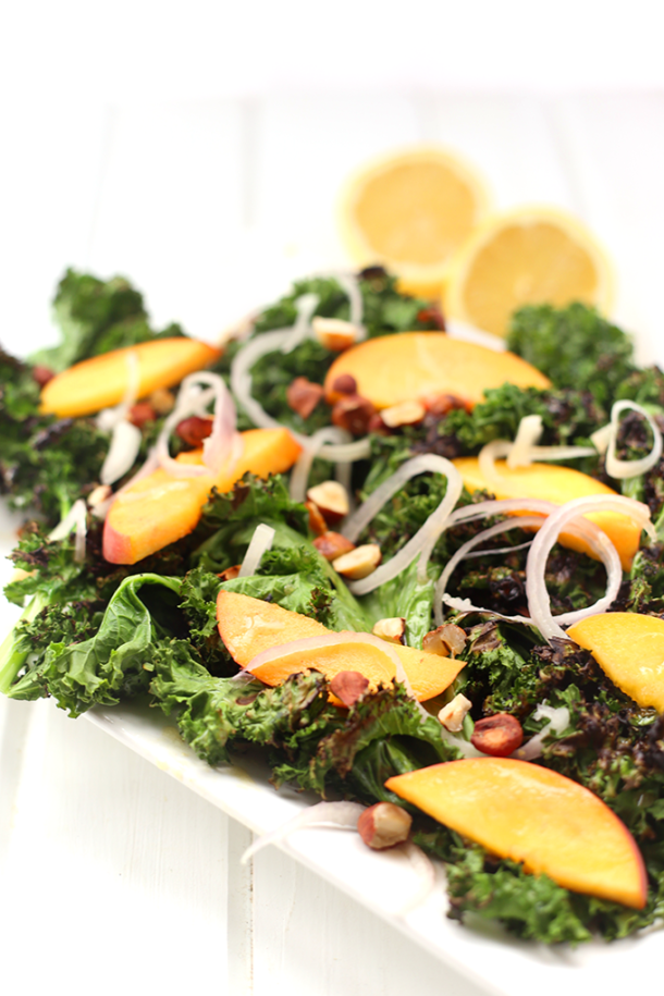Grilled Kale Salad with Lemon Dressing