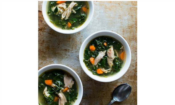Leftover Turkey and Kale Soup