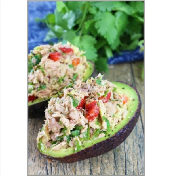 Heathy Tuna Stuffed Avocado