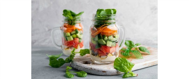 Crispy Salad in a Mason Jar