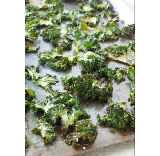 Sea Salt and Garlic Kale Chips
