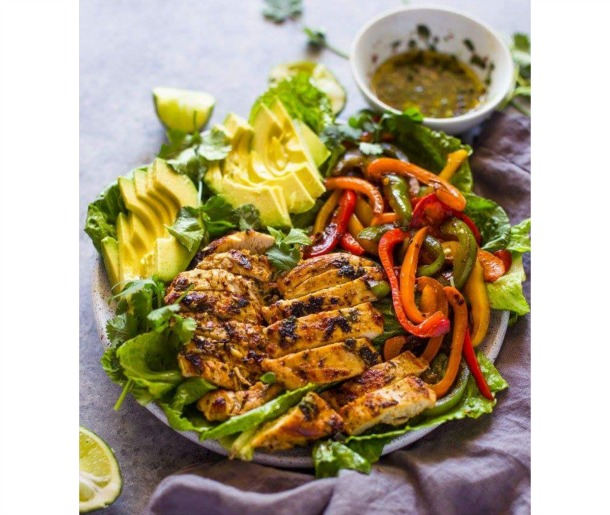 Grilled Fajita Chicken and Avocado Salad