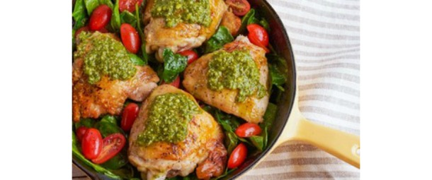 Pan Roasted Italian Chicken with Pesto