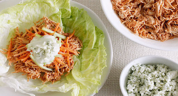 Crock-Pot Buffalo Chicken Lettuce Wraps